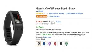 amazon black friday best sellers sells 79 99 garmin vivofit deal found in black friday ads today