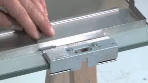 replacing sliding glass door lock vitro on 10 mm glass door with brackets installation youtube