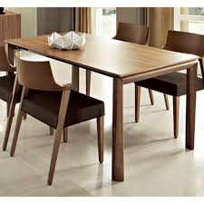182 modern rectangular dining table in walnut