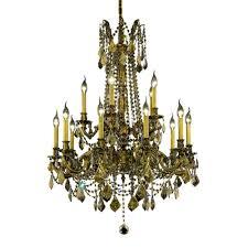 15 light chandelier elegant lighting 45 light french gold chandelier with clear