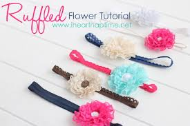 how to make baby hair bands ruffled lace flower picture tutorial
