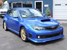 blue subaru gold rims used 2010 subaru impreza wrx wrx sti at auto house usa saugus
