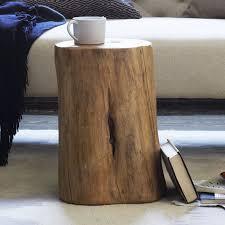 tree stump side table elm