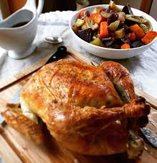 chicken thanksgiving dinner roast chicken with root vegetables the hungry bluebird