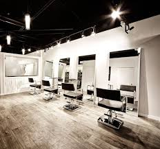 interior simple interior decor for hair salon with pendant lighting and wood flooring hair