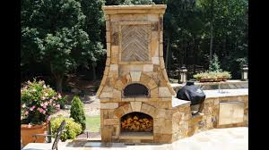 backyard fireplace and pizza oven home outdoor decoration
