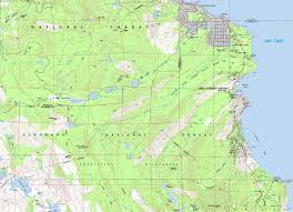 Rubicon Trail Map Desolation And Sugar Pine State Park Backpacking Map