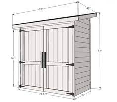 How To Build A Simple Wood Storage Shed by Build Something Like This To House Lawn Mower U0026 Yard Tools