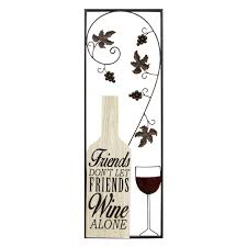Kitchen Wall Decorations by Wiltshire Wine And Friends Large Panel Wall Decor Review