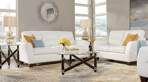 Leather Living Room Sets Full Leather Furniture Suites - White leather living room set