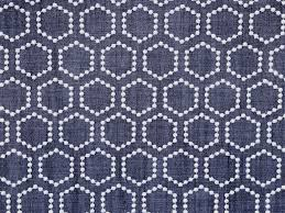 blue denim and white hexagon curtain fabric by the yard upholstery