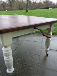 antique dining table extendable with joseph fitter winding