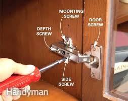 how to adjust european cabinet door hinges adjusting kitchen cabinet doors how to adjust kitchen cabinet doors