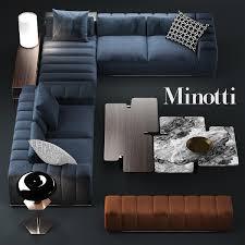 3d Sofa 3d Sofa Minotti Freeman Model Furniture Pinterest