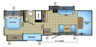 Fifth Wheel Rv Floor Plans by Bunk Beds Bunkhouse Rv Floor Plans Coachmen Leprechaun Reviews