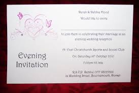 Post Card Invitations Wedding Invitations Day Or Evening Personalised Butterfly Heart