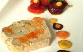 cuisiner le foie de lotte recette terrine de foie gras de la mer carottes multicolores