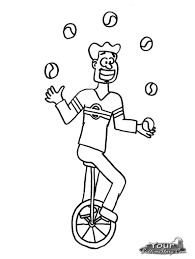 coloring pages of juggler happy world jugglers u0027 day pinterest