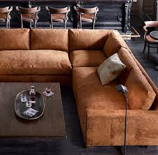 Chestnut Leather Sofa Maxwell Leather Sofa Sectional Available In Cigar Chestnut And