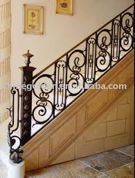Buy Banister Straight Decorative Interior Wrought Iron House Indoor Railings