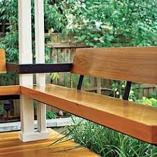 deck railing storage seating how to add built in seating to your