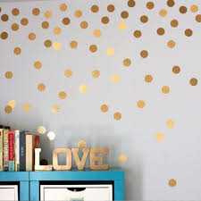 Home Decor Stickers Wall Polka Dot Wall Stickers Gold Silver Black White Wall Decals Vinyl