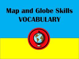 globe and maps worksheet map and globe skills vocabulary words