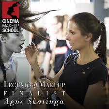 make up artist school agne skaringa is one of the finalist for ve neill scholarship