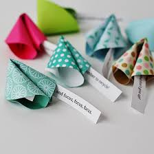 new year s paper fortune cookies family crafts