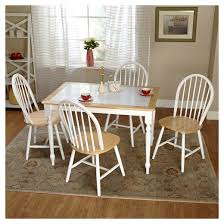 Tara Tile Top Dining Set WhiteNatural  Piece TMS  Target - Tile top kitchen table and chairs