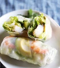rice paper wrap weeknight recipe shrimp avocado summer salad rolls kitchn