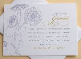 sles of thank you notes what do you write on a thank card for funeral flowers best