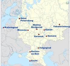 Moscow Russia Map 11 Cities That Will Host The 2018 World Cup In Russia Host Cities