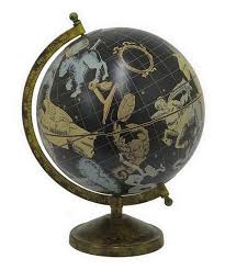 look at this three hands corporation black tabletop globe on