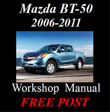 mazda bt 50 bt50 2006 2011 workshop service repair manual on cd