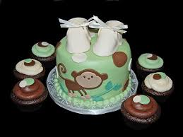 monkey decorations for baby shower monkey theme cakes for baby showers design dazzle