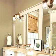 Framing Existing Bathroom Mirrors How To Add A Frame To A Bathroom Mirror Bedroom Wondrous Wood
