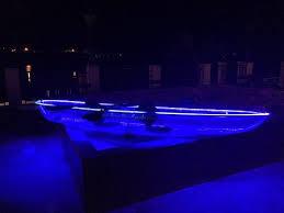 kayak lights for night paddling neon paddle 2 person vip led glass kayak lake las vegas water