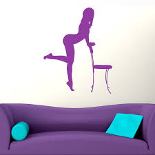 pinup sexy lady silhouette wall sticker world of wall stickers