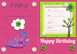 bi fold birthday gift certificate template gift certificates