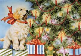 claussen art cards and prints of golden retrievers and other dog