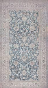 large oversized blue antique persian kerman carpet 44142 nazmiyal