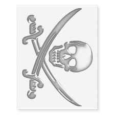 the skull sword is dead pirate skull and swords sticker car