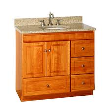 Strasser Vanity Tops Strasser Woodenworks Ultraline 36 Inch Bathroom Vanity With Right
