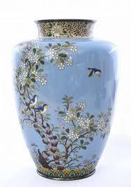 Enamel Vase Vintage Arts Regional Art Asian Japanese Enamel Trocadero