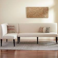 eco linen sectional settee u0026 dining banquette settee dining