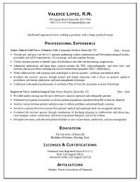 exles of nursing resume resume for rn 10 exle of registered sle nardellidesign