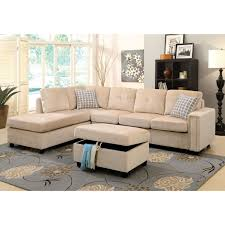Reversible Sectional Sofa Belville Reversible Sectional Sofa With Pillows Multiple Colors