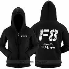 the fate of the furious hoodie for men fast 8 family no more black