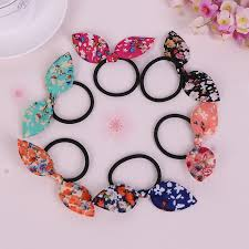 wholesale hair accessories wholesale small floral rabbit ears hair ring headwear child towel